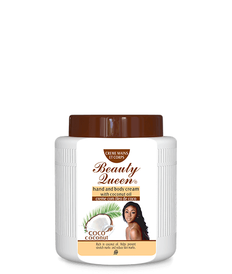 BEAUTY QUEEN Moisturizing body cream with coconut oil - SIVOP