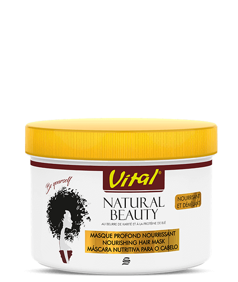 NATURAL BEAUTY Face mask with shea butter and wheat protein - SIVOP